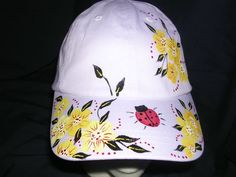 Handpainted ball caps - Hand Painted Designs by Martee.  Christmas Idea!