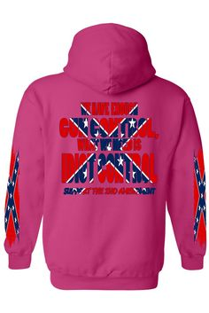 6e52bc9490e Men s Rebel Flag Pullover Hoodie What We Need Is Idiot Control