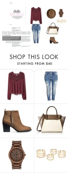 """""""Untitled #97"""" by esma10 ❤ liked on Polyvore featuring косметика, MANGO, H&M, Vince Camuto и WeWood"""