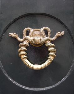 Snake doorknocker, 5 Rue Bonaparte, Paris, France