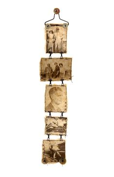 Ali Ferguson - Brown paper & beeswax… Contemporary stitched textiles from fragments of the past Tea Bag Art, Encaustic Art, Assemblage Art, Photo Craft, Brown Paper, Art Plastique, Fabric Art, Altered Art, Altered Tins