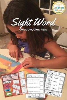 Sight Word Sentences First 100 Fry Sight Words and More These types of repetitive sentences using sight words encourage children to read and build confidence. We all know how many times a child needs to see a sight word before it is completely memorized and fluent. These practice pages will make sight word recognition fun and repetition easy as children color, cut and glue words form the bottom of each sheet to create complete sentences to read.