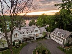 Custom builders John Kraemer & Sons built this lakeside coastal-inspired home that oozes luxury, comfort, and elegance. New England Style Homes, England Houses, Cottage Homes, Next At Home, My Dream Home, Dream Homes, Architecture, Traditional House, Exterior Design