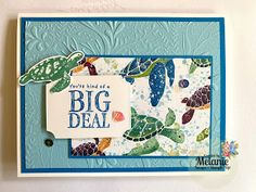 Nautical Cards, Vintage Nautical, Nautical Theme, Turtle Images, Punch, Beach Cards, Making Greeting Cards, Stamping Up Cards, Animal Cards