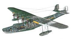 "WWII Japanese Flying Boat Kawanishi H6K ""Mavis"" cutaway [3291*1803]"