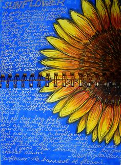 "Links to a Site called ""Art Journal ing"" by whom, no idea, but you can have your work posted there.{ts} Sunflowers are fun to draw and paint and so forgiving.you can make mistakes and no one would know. Kunstjournal Inspiration, Art Journal Inspiration, Art Inspo, Journal Ideas, Art Journal Pages, Art Journals, Art Journal Covers, Sunflower Art, Yellow Sunflower"
