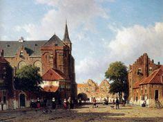 City View - Johan Hendrik Weissenbruch - WikiArt.org