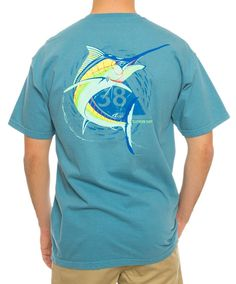 "The mark of a true sportsman, this shirt will show you're a ""reel"" man!"