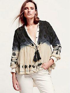 Free People: Top Down Embellished Jacket