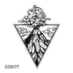 MB Black White Style Tattoo Sticker Tree Taty Flower Temporary Tattoo Sticker For Body Art Tatouage Wolf Space Fake Tatoo Surreal Tattoo, Wüsten Tattoo, Tattoo Drawings, Future Tattoos, New Tattoos, Body Art Tattoos, Volcano Drawing, Hawaii Tattoos, Stars And Moon