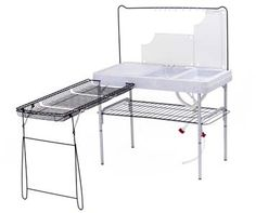 Gourmet Camp Kitchen Table With Double Sink