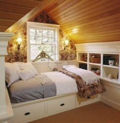 A cozy little space in the attic.