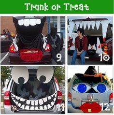 Fun ideas to dress your car up for Halloween. Found on: http://swiftwash.com/blog/