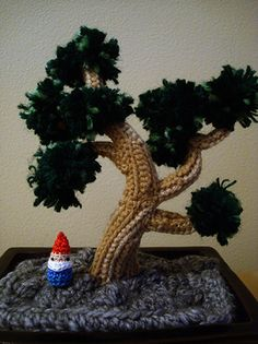 crochet bonsai