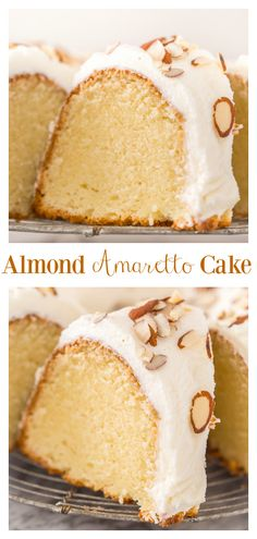 This Almond Amaretto Pound Cake is moist, buttery, and so flavorful! Topped with hom. Almond Amaretto Pound Cake Recipe - Baker by Nature Brownie Desserts, Oreo Dessert, Mini Desserts, Just Desserts, Delicious Desserts, Dessert Recipes, Plated Desserts, Dessert Ideas, Baking Recipes