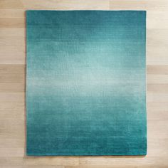 Ombre Peacock 5x8 Rug Turquoise