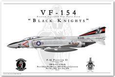 """VF 154"" Black Knights F-4J Phantom II"
