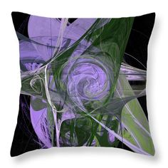 """Universe Flower Throw Pillow by Marina Usmanskaya.  Our throw pillows are made from 100% spun polyester poplin fabric and add a stylish statement to any room.  Pillows are available in sizes from 14"""" x 14"""" up to 26"""" x 26"""".  Each pillow is printed on both sides   Saturn.Computer generated fractal on the black background  #marinaUsmanskayaFineArtDigitalArt #homedecor #homedesign #abstract #abstractart #artforhome  #fractal"""