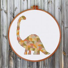 Geometric Dinosaur cross stitch pattern decor cross stitch