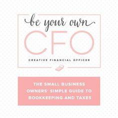 If you are ignoring ( guilty anyone?) the money part of your business? Not sure where to get help and arent ready for a bookkeeper? Check out @amynorthardcpa s course Be Your Own CFO { Creative Financial Officer } The course will get you familiar with all the money flowing in and out of your business. It is SO important to know your numbers. Cash flow problems KILL businesses. If you arent making money and dont know how to stop the bleeding you wont be in business for long. Plus…