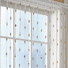 Bamboo Bead Jewelry Window Curtain Panel - BedBathandBeyond.com