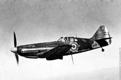 Dewoitine D520 in flight, possibly a test flight or trial. The French-built D520 was one of the best fighters available in any air force in 1940, but was available for combat only in small numbers during the Battle of France.