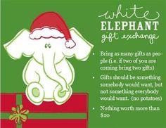 White Elephant Party Invite Christmas Pinterest White