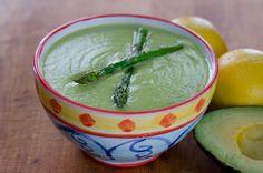 #Vitamix ROASTED ASPARAGUS AVOCADO #SOUP: 12oz roasted Asparagus, 2 cups Broth, 1 Avocado, Juice of 1/2 a Lemon, 1 Tbsp Oil of Choice, Salt & Pepper