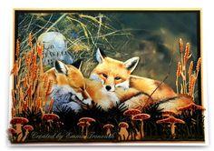 Pollyanna Pickering Fox image, male birthday card