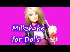 How to make Doll Food - Strawberry Swirl Milkshake - Crafting Tutorial