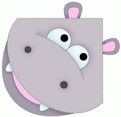 View Design: hippo photo corner, bookmark