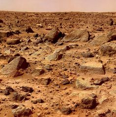 Mars planet surface