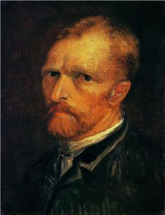 """Self-Portrait,"" Vincent van Gogh (1886, Paris) - Gemeentemuseum Den Haag, Hague, Netherlands"