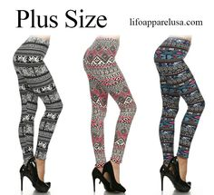 Right here  waiting for you!  Plus size leggings!  Www.lifoapparelusa.com