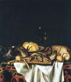 Cornelis Norbertus Gijsbrechts (Flemish, c.1630-1683+)     Nature morte aux poissons   1667