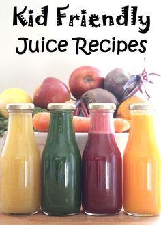 Kid Friendly Fruit and Veg Juice Recipes