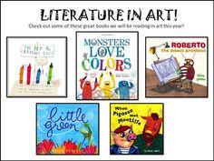 kindergarten books that help teach art