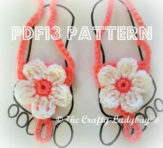 Baby barefoot sandals pattern
