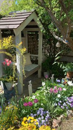Dream Garden, Garden Art, Garden Design, Home And Garden, Lawn And Garden, Backyard Patio Designs, Small Backyard Landscaping, Small Backyard Design, Farmhouse Landscaping