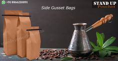 Different type of products can be packed in blank side gusset bags. We can pack #snackfoods, #seafood, #pasta #coffee etc...