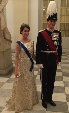 Newmyroyals:  Belgian State Visit to Denmark, March 28, 2017-Princess Marie and Prince Joachim