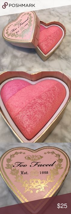 ONE DAY SALE Too Faced Sweathearts Blush Perfect Flush Blush. Used twice. Will sanitize before delivery. Perfect condition Too Faced Makeup Blush