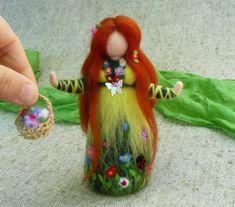Dolls – Fairy doll flower, Waldorf doll needle felted – a unique product by loraahdaah on DaWanda