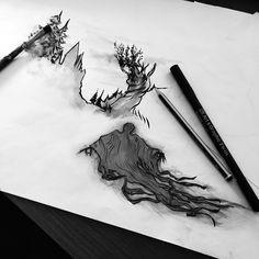 #harrypotter #art #dementors