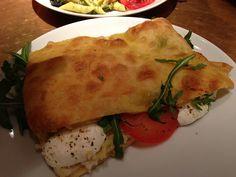 Focaccia Caprese at Princi, Soho. Read our review at http://scofflondon.com/cafes/princi-review-w1/