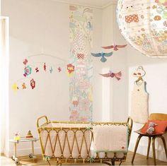 Djeco Baby's Room - YOKO FURUSHO ILLUSTRATION Vintage Nursery, Nursery Furniture, Nursery Design, Baby Sleep, Baby Baby, Kid Spaces, Beautiful Space, Baby Room, Child Room