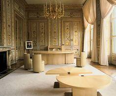 Andree Putman interiors: Jack Lang's office at ministère de la culture Paris