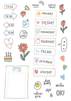 Planner Stickers - Manage Your Time With This Helpful Advice Bullet Journal Writing, Bullet Journal Ideas Pages, Bullet Journal Inspiration, Journal Stickers, Planner Stickers, Notebook Stickers, Printable Stickers, Note Doodles, Mini Drawings