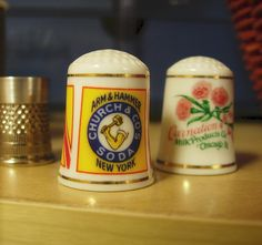 Vintage product thimbles  I have the whole collection!