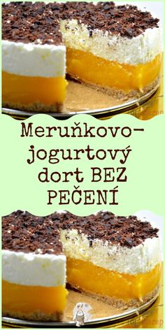 Czech Recipes, Cake Decorating Techniques, Desert Recipes, Creative Food, Baking Recipes, Sweet Tooth, Sweet Treats, Cheesecake, Food And Drink